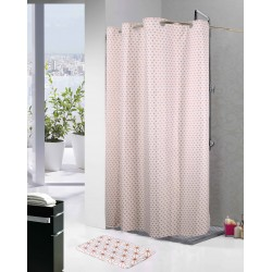 Cortina de baño rose gold